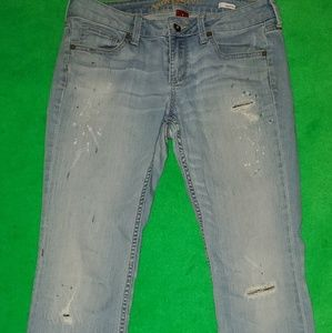 Arizona bootcut paint splatter Jeans